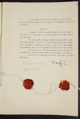 Trade agreement between Estonia and Romania. Photo: Estonian National Archives