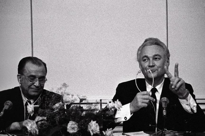 President of Romania Ion Iliescu and President of Estonia Arnold Rüütel. Photo: Estonian National Archives