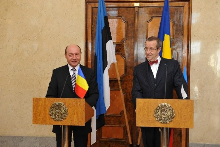Press conference of the President of Romania Traian Băsescu and the President of Estonia Toomas Hendrik Ilves in Kadriorg Castle. Photo: Archives of the Estonian Ministry of Foreign Affairs / Erik Peinar