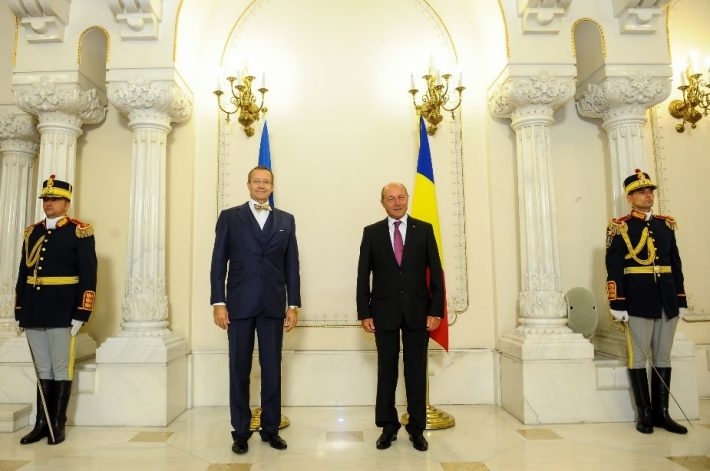 President of Estonia Toomas Hendrik Ilves; President of Romania Traian Băsescu. Photo: www.presidency.ro
