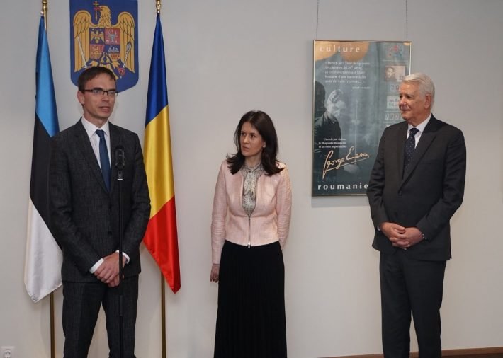 From left: Minister of Foreign Affairs Sven Mikser, First Romanian Ambassador to Estonia Daniela Mihaela Cămărășan, and Minister of Foreign Affairs Teodor Meleșcanu. Photo: Ministry of Foreign Affairs of Romania